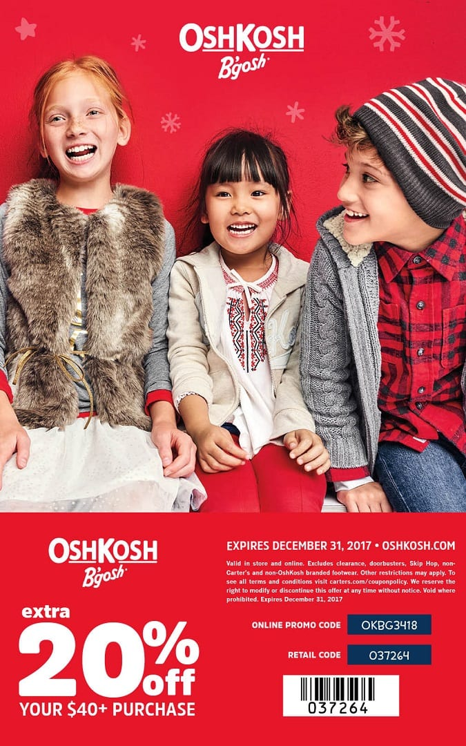 2017 Oshkosh coupon holidays