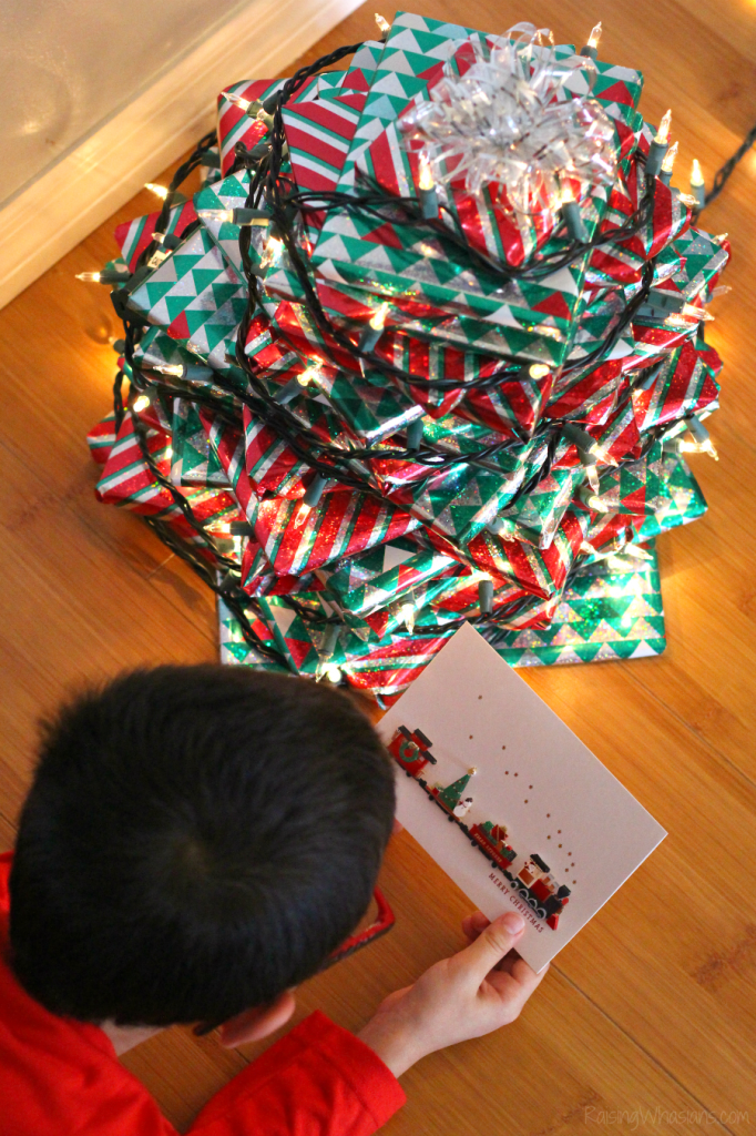 Christmas book tree for kids