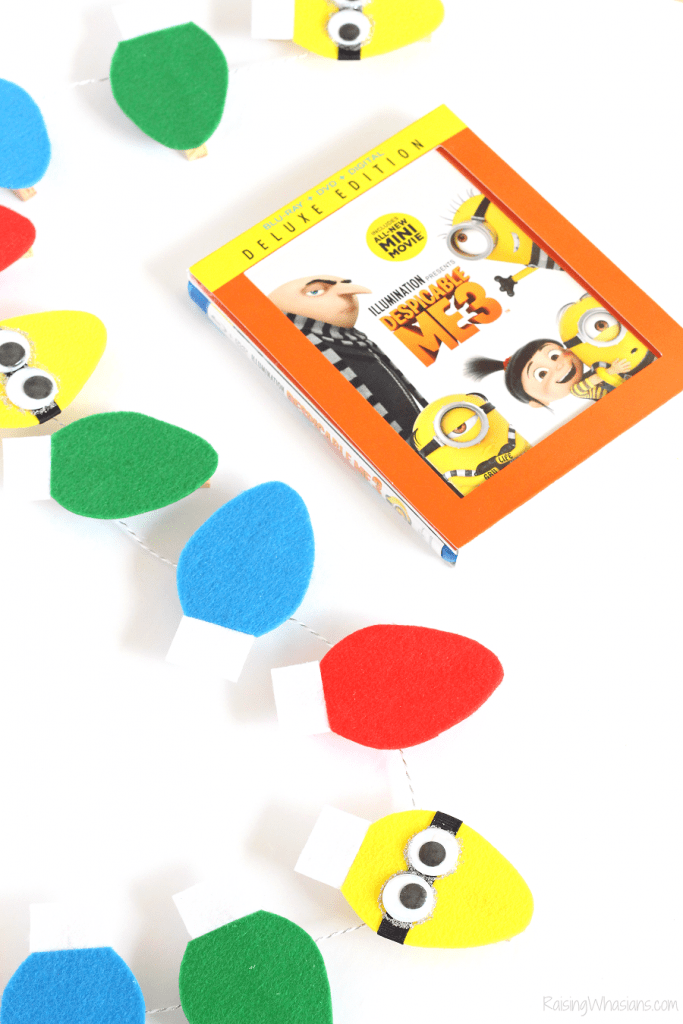 Christmas minions kids craft