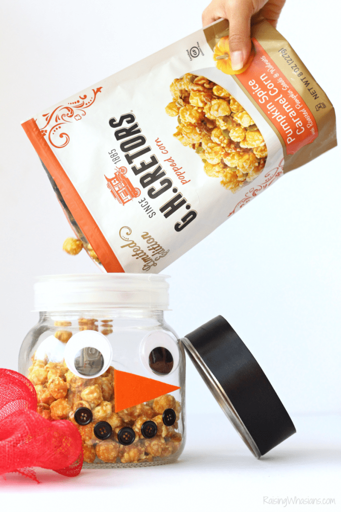 DIY Christmas popcorn jar