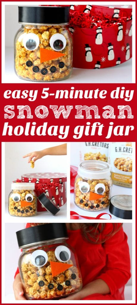 DIY snowman jar pinterest