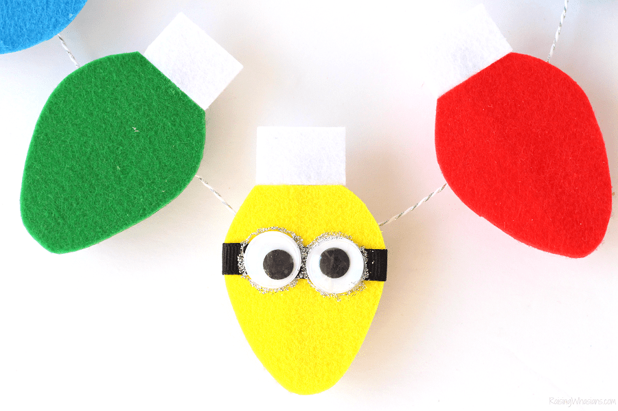 Despicable me garland craft