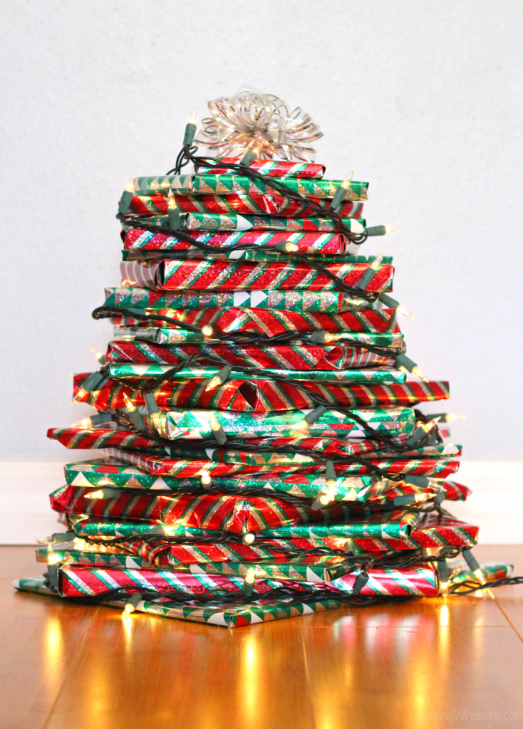 Easy Christmas book tree