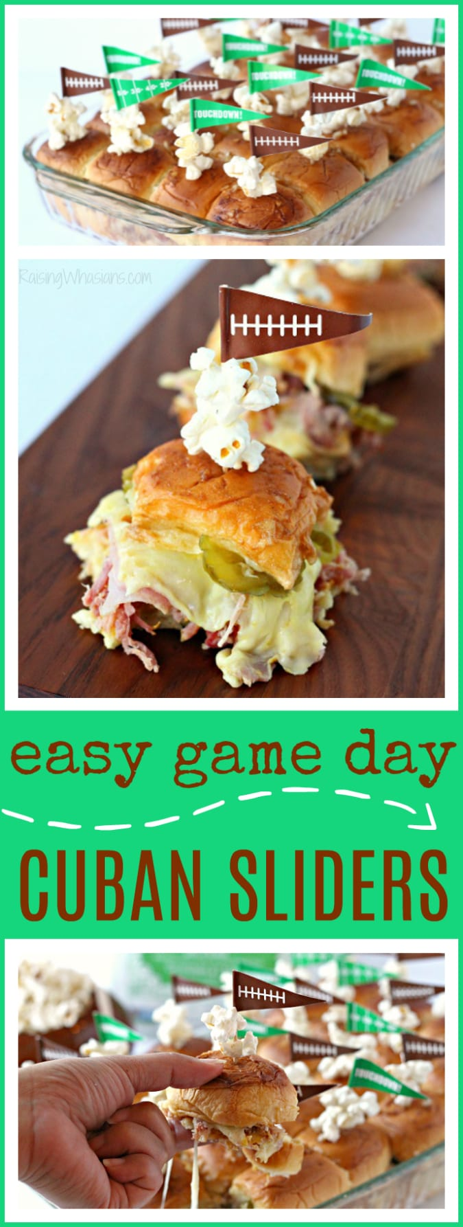 Easy game day Cuban sliders