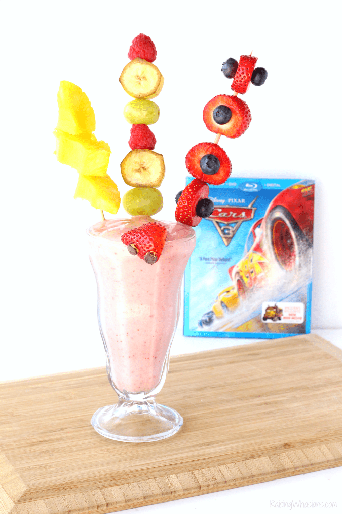 Lightning McQueen smoothie