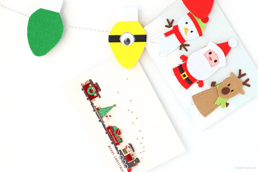 Minions Christmas card display