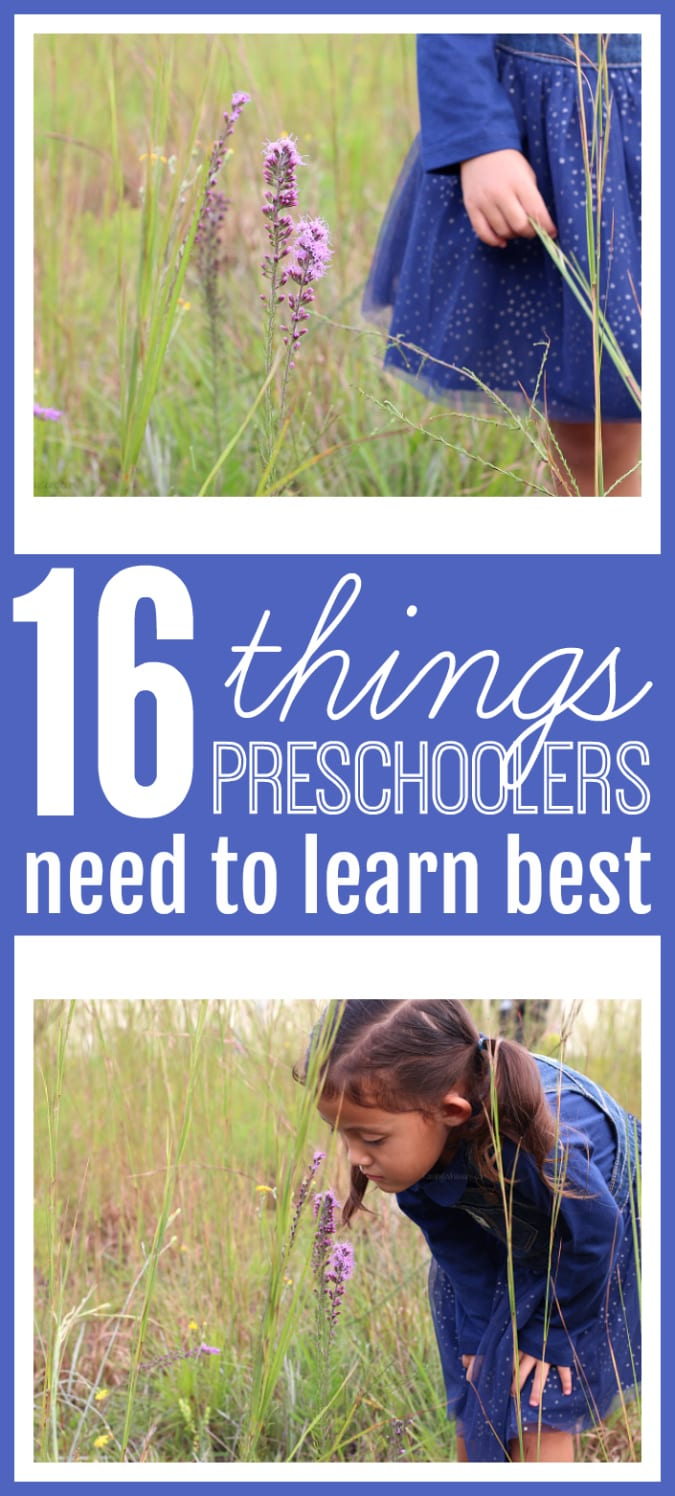 Things preschoolers need