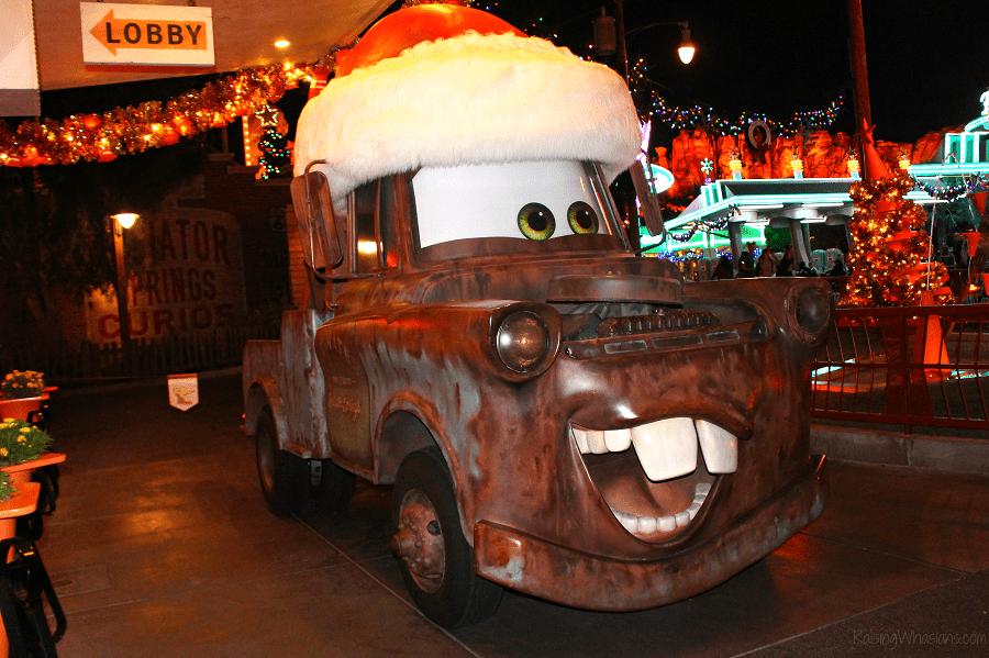 Cars land Disneyland holidays
