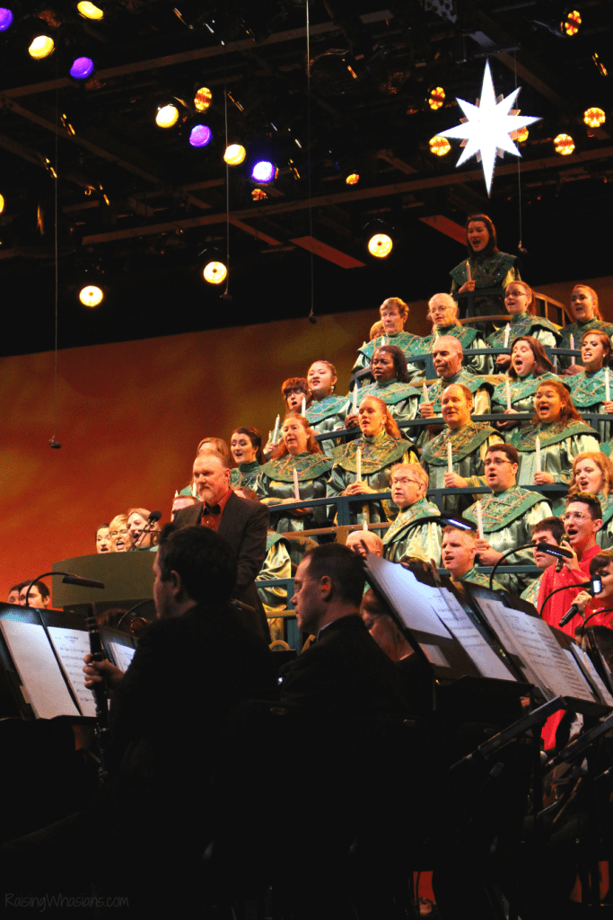 Epcot candlelight processional tips for families
