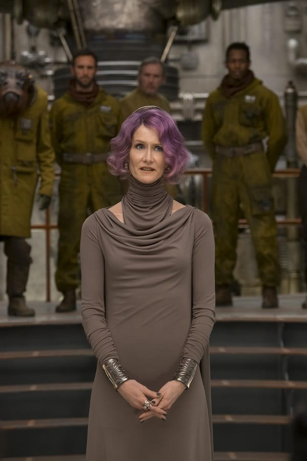 Laura Dern interview star wars Holdo