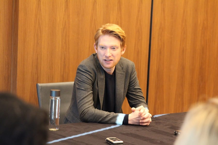 The last jedi interview Domhnall Gleeson