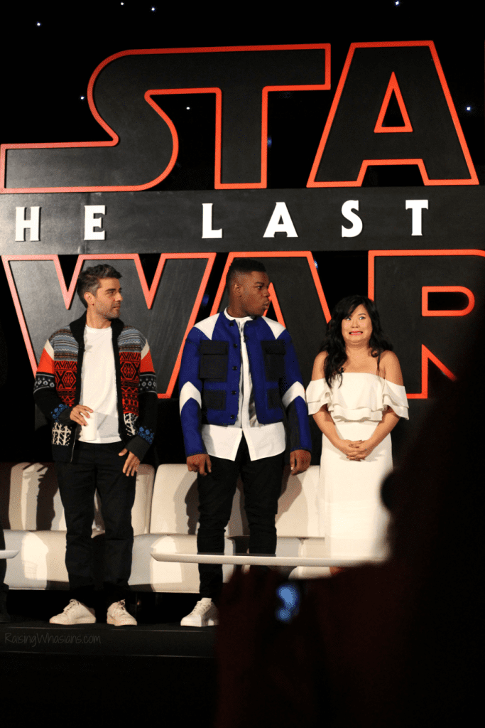 The last jedi press conference photos