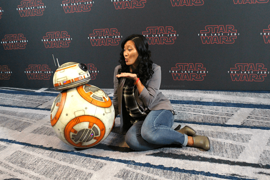 The last jedi press event BB-8