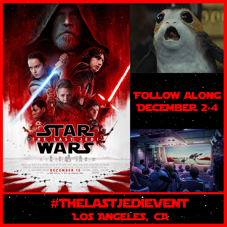 The last jedi press event