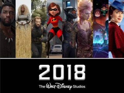 2018 Disney movie line up