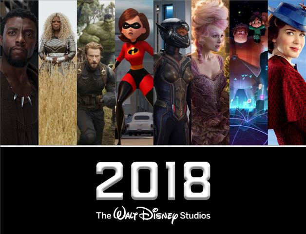 2018 Disney movie schedule