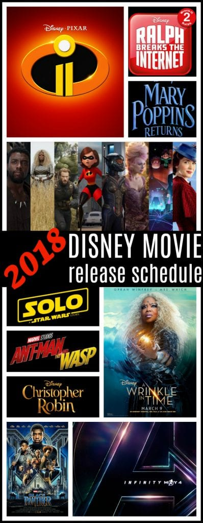 2018 Disney movie releases
