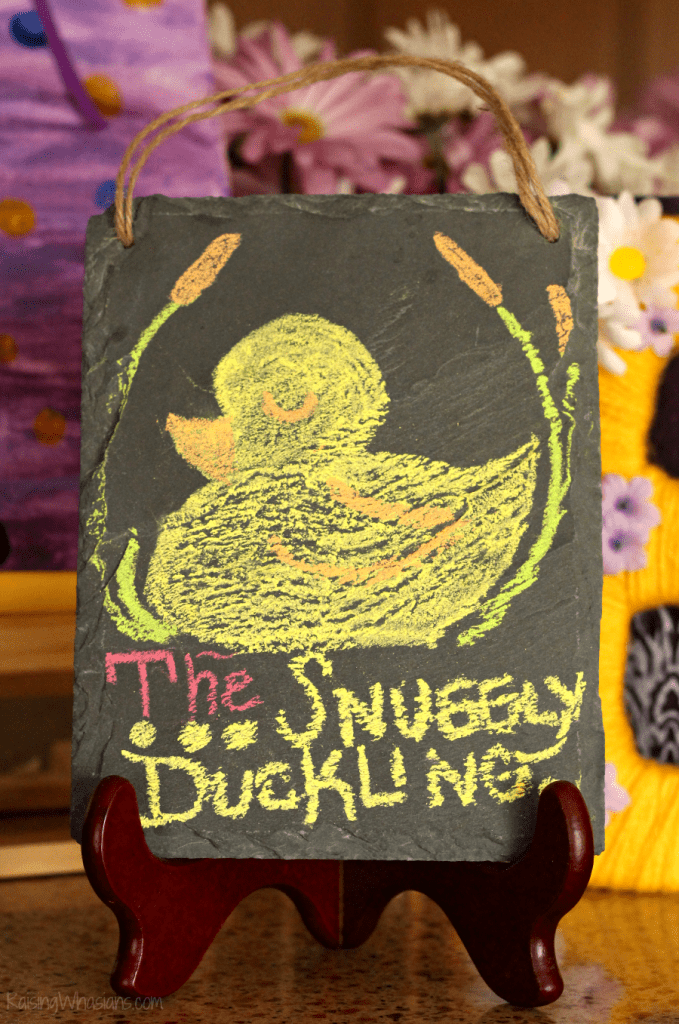 DIY snuggly duckling sign