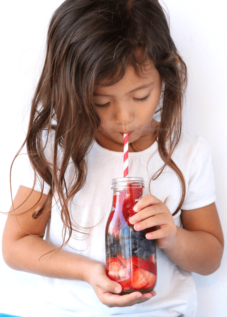 8 Fruit Infused Water Recipes Kids Will Actually Drink + Stir Stick Idea | Swap juice for these healthy & fun fruit infused water ideas for kids + stir sticks, perfect for lunch boxes #Recipe #Healthy #DrinkRecipe #Lunch