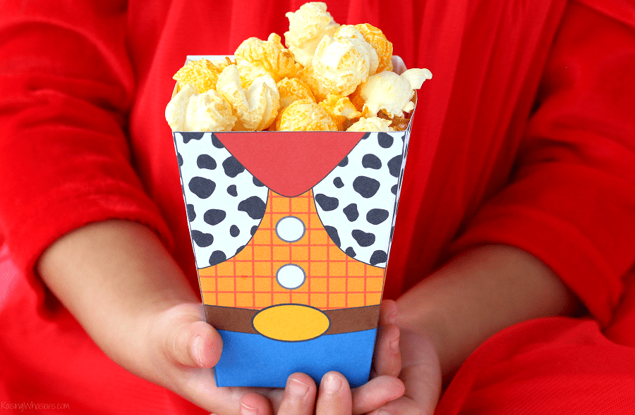 image regarding Printable Popcorn Boxes known as Uncomplicated Toy Tale Video Evening Programs + Free of charge Printable Popcorn