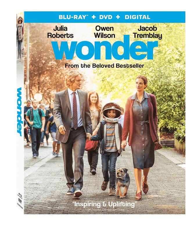 Wonder the movie now on Blu-Ray