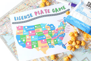 Free license plate game printable