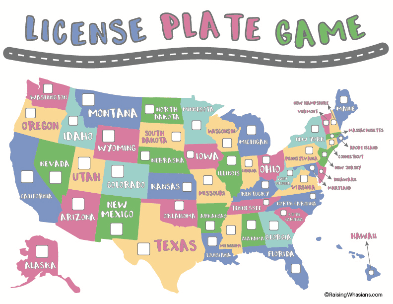 picture about License Plate Game Printable identify Cost-free License Plate Video game Printable for Children - Rising Whasians