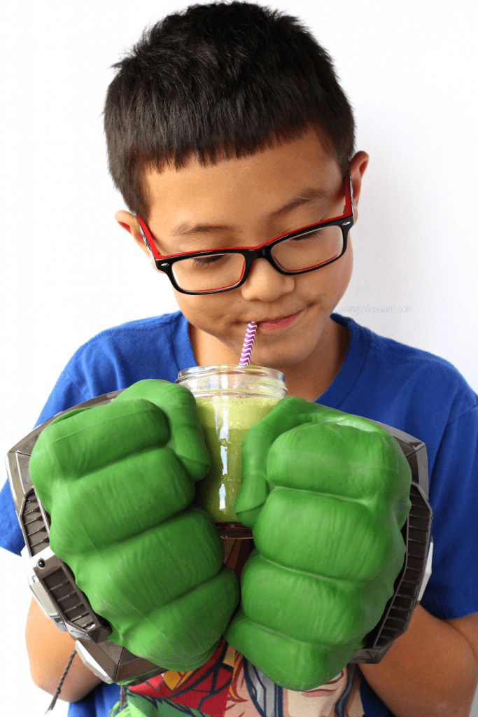 Hulk smoothie for kids