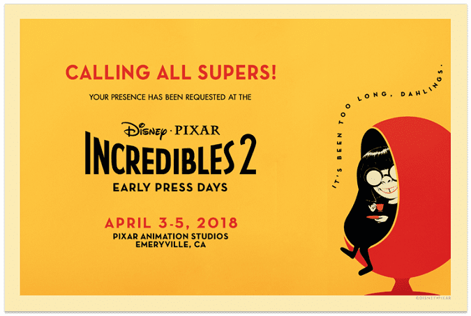 Incredibles 2 press days