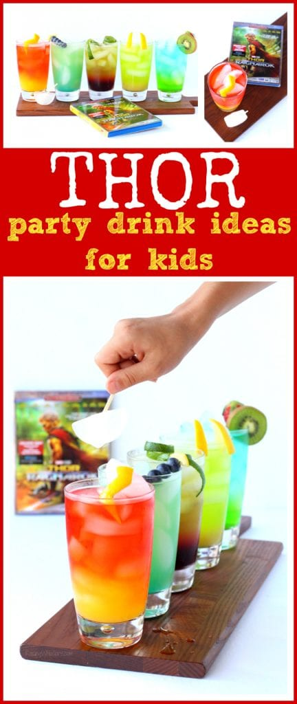 Thor party drinks for kids pinterest