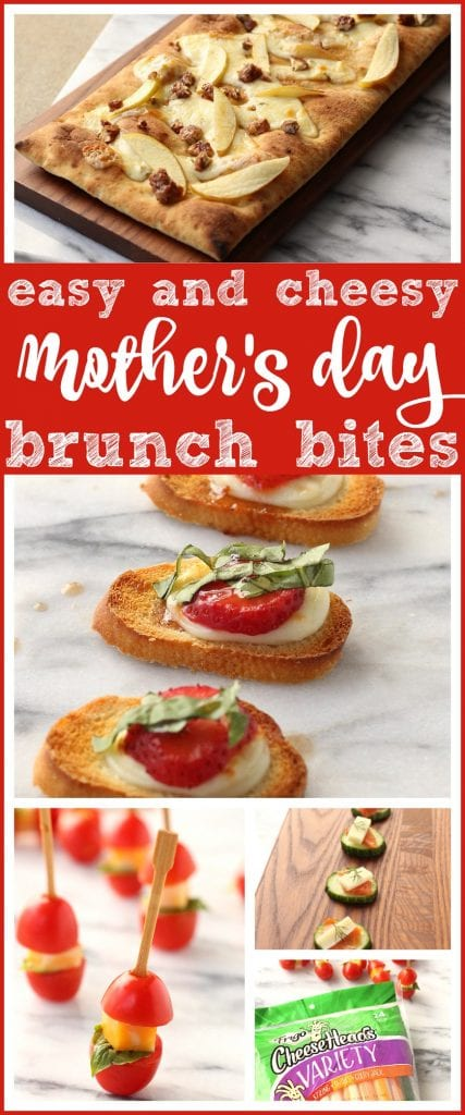 4 Fancy Mother's Day Brunch Bites You Can Make with Snack Cheese | Spoil mom this holiday with easy & delicious appetizers that you won't believe have your kids' string cheese in them! FUN party food ideas too #Recipe #MothersDay #brunch #EasyRecipe