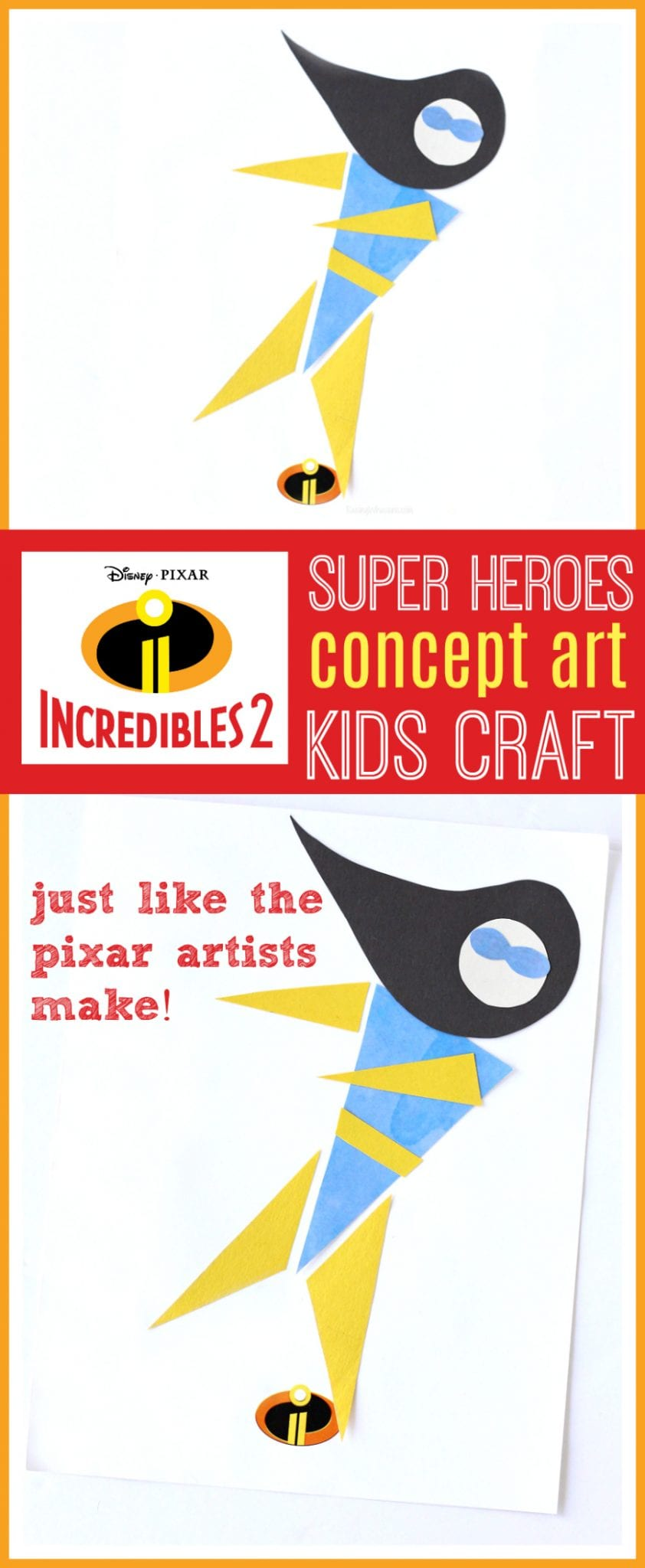 Pixar kids craft