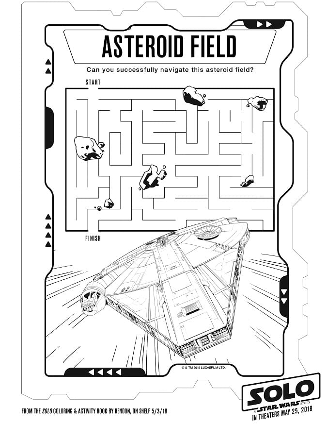 FREE Solo: A Star Wars Story Coloring Sheets + Kids Activities ...