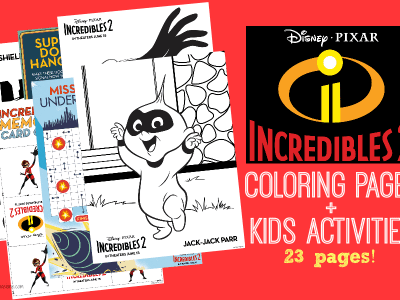 Free Incredibles 2 coloring sheets