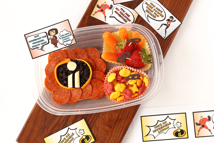 Free Incredibles 2 lunch notes