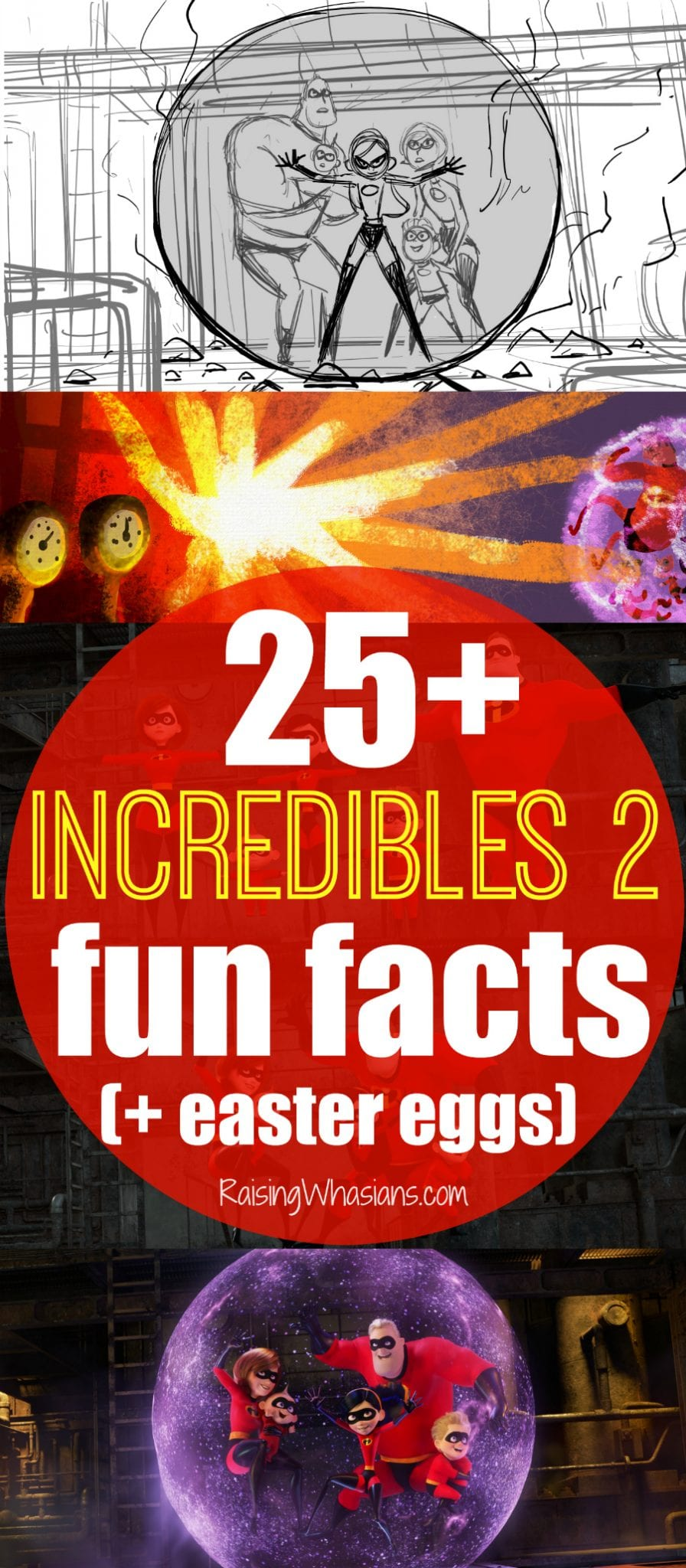 Incredibles 2 fun facts easter eggs