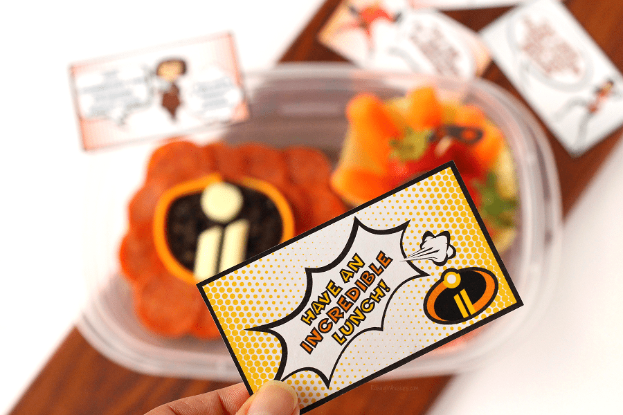 Incredibles 2 lunch notes printable
