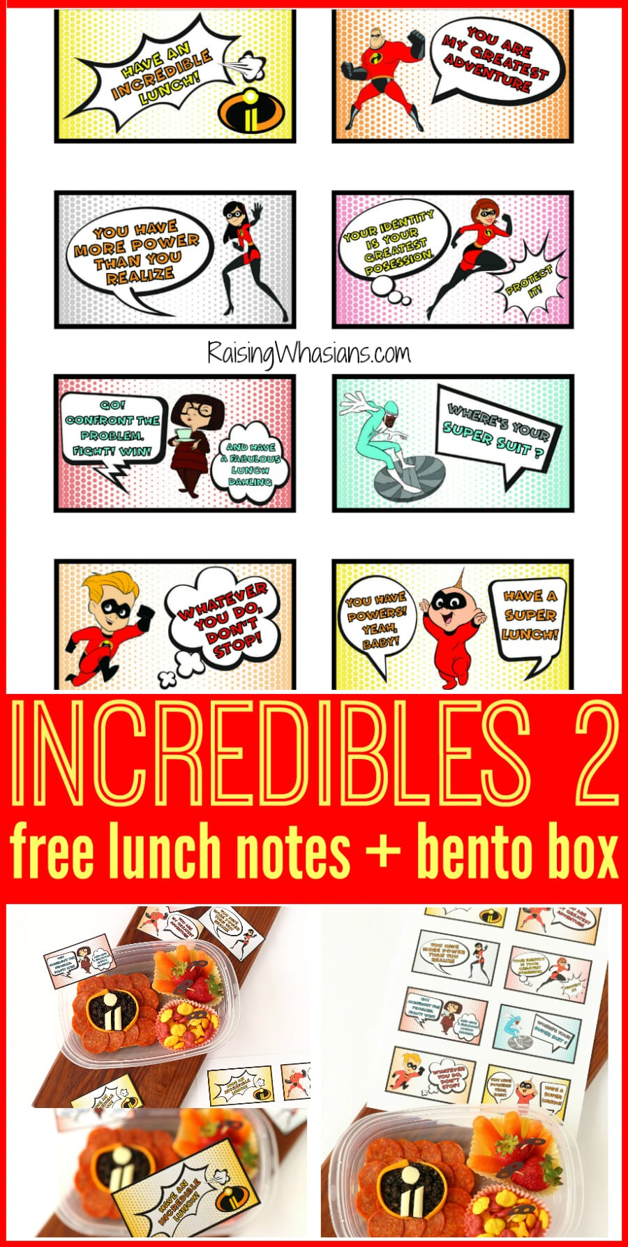 Back to school incredibles 2 lunch ideas
