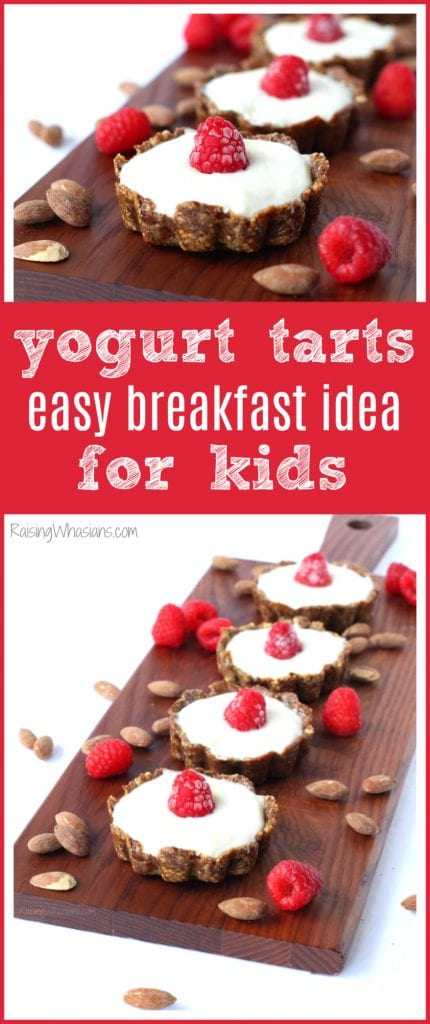 Busy morning with kids? Make Easy Yogurt Tarts for a Quick Breakfast Idea! Healthy meal for last minute back-to-school mornings #Breakfast #HealthyRecipe #Recipe