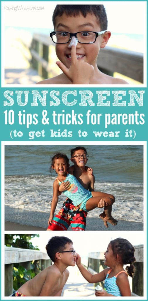 Sunscreen tricks for parents