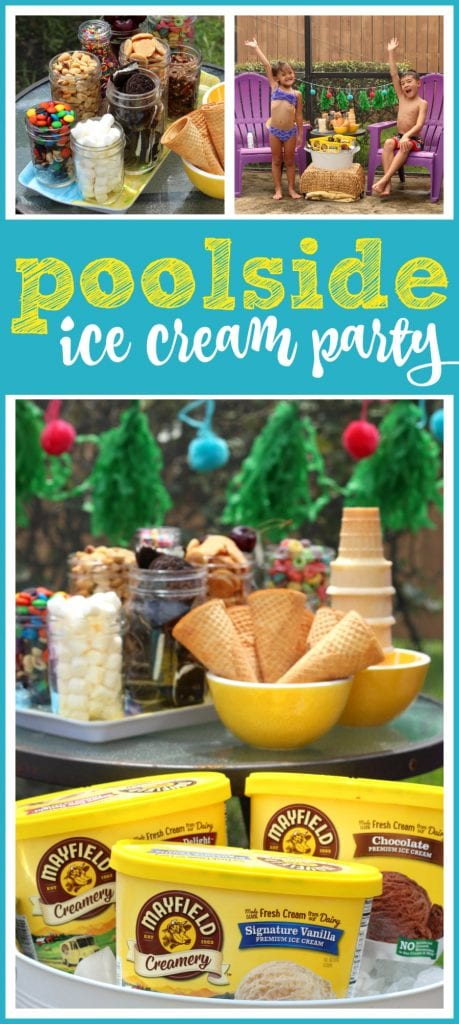 Ice cream pool party ideas