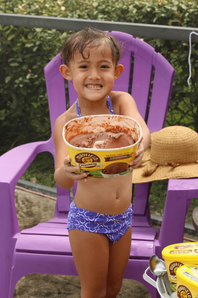 Pool ice cream party