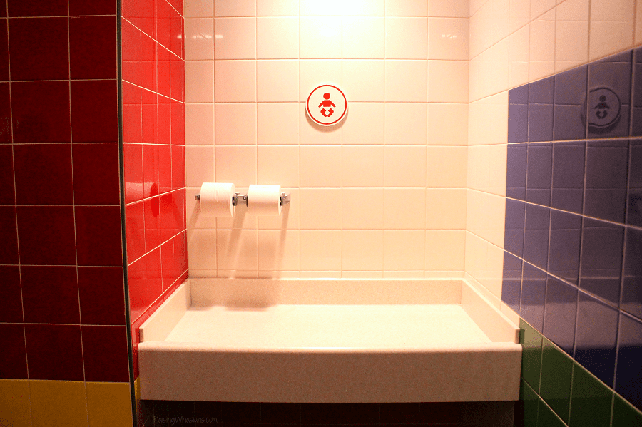 Toy story land bathroom changing tables