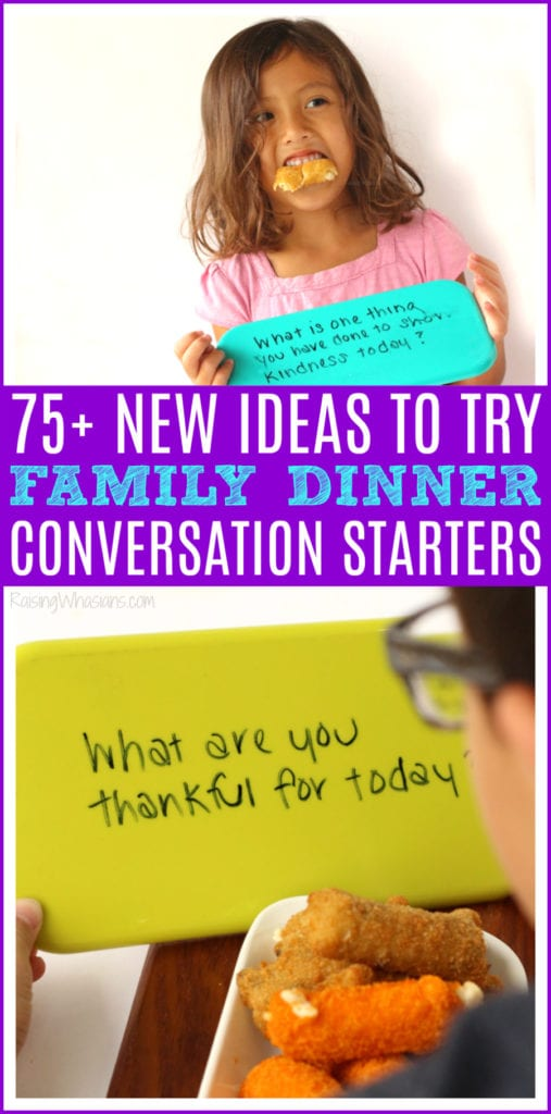 Family dinner conversation starter ideas