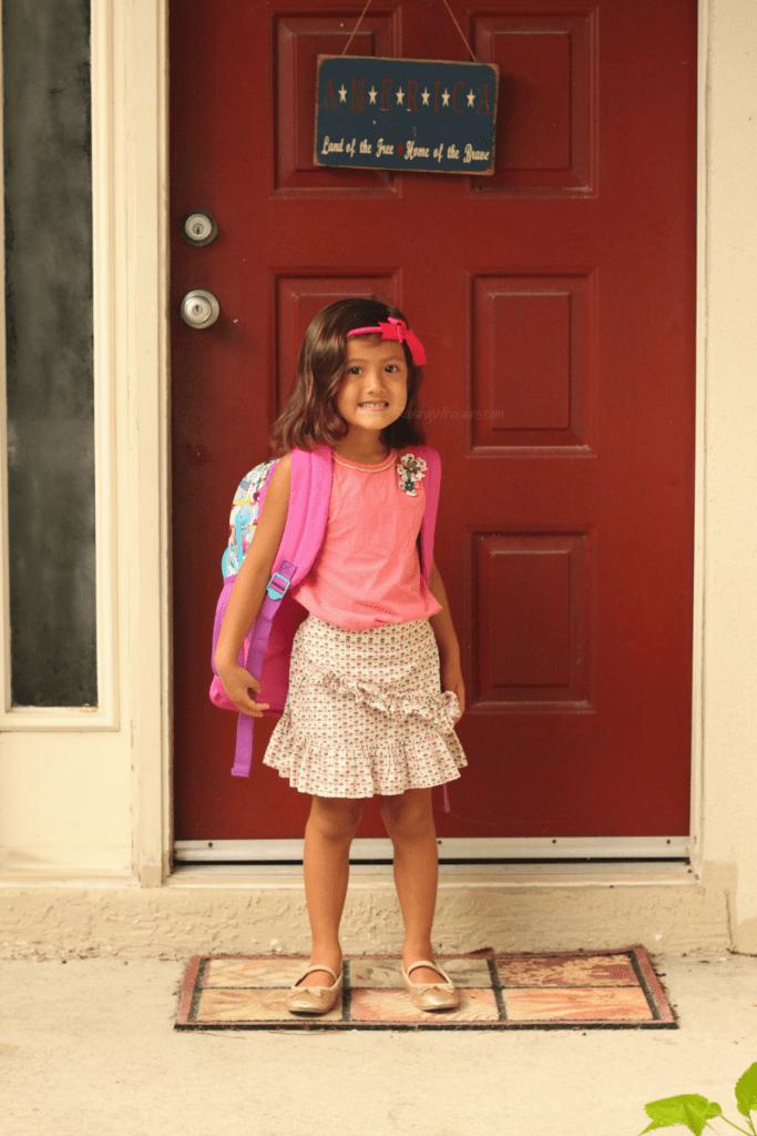 Youngest child starts kindergarten