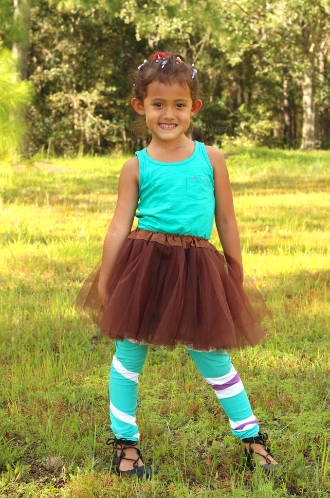 DIY Vanellope costume for kids