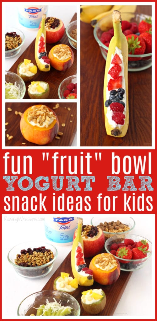 Yogurt bar ideas for kids