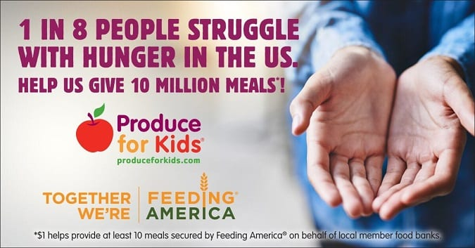 2018 produce for kids feeding America campaign