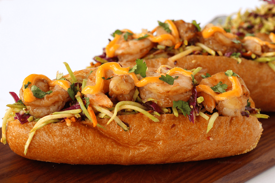 Asian shrimp po boy