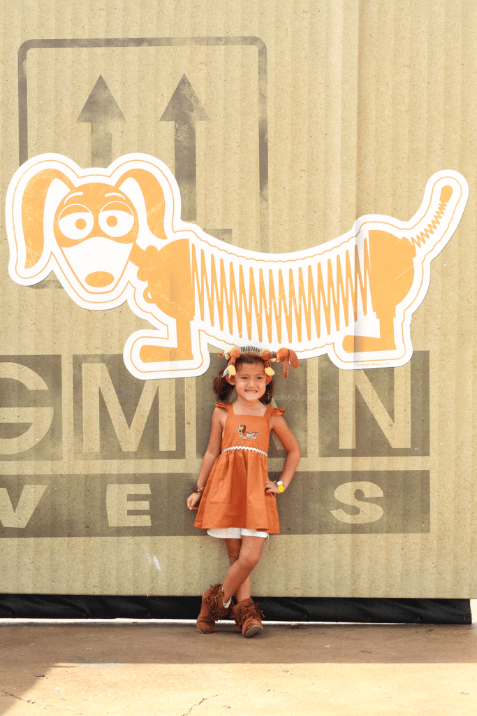 DIY slinky dog dress
